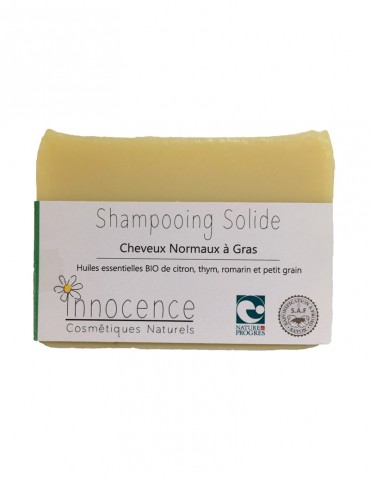 Shampoing solide Bio - Cheveux normaux à gras