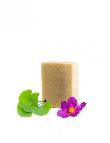 Organic solid soap - Anti-redness - Ginbko Biloba