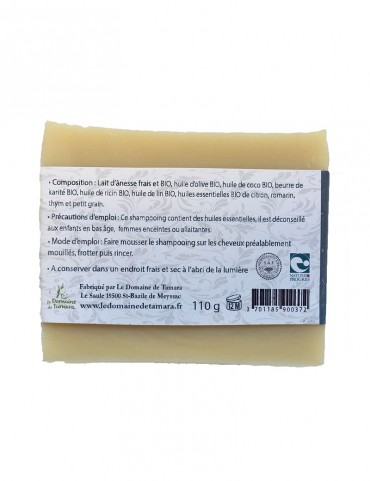 Normal to oily hair shampoo with organic donkey milk - with essential oils