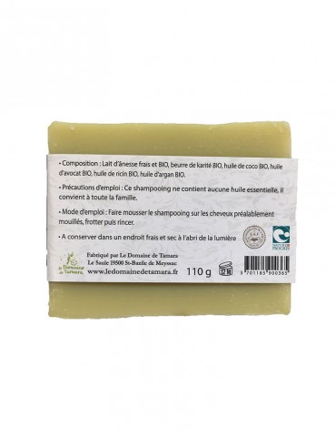 Shampoo for dry and damaged hair with organic donkey milk - without essential oil