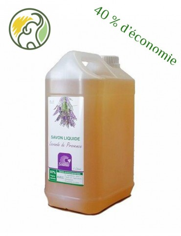 Organic Liquid Soap - Officinal Lavender - 5 Ingredients - Bulk 5L