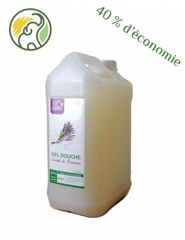 Organic shower gel - Officinal Lavender - 5 Ingredients - Bulk 5L