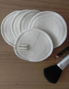 Organic make-up removing rings - Made in France