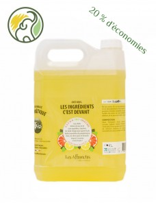 Natural shower gel - ORGANIC basil citrus - 5 Kg